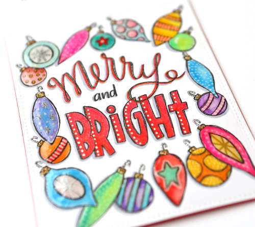 Merry and bright close up