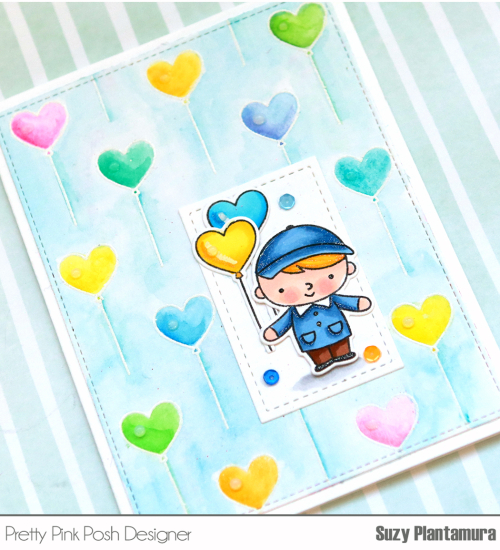 Balloon Card close u[